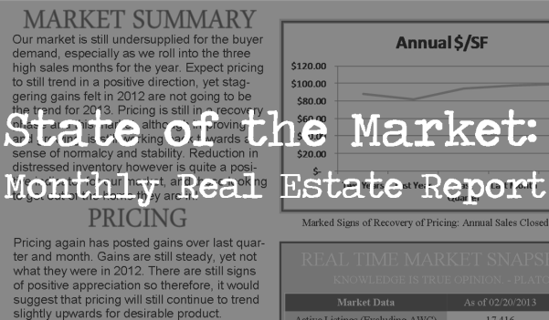 March 2013 Monthly Market Report